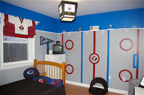 Decorating Ideas For Hockey Bedroom by Cool Hockey Themed Bedroom Decorating Ideas