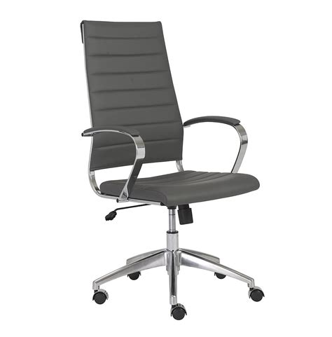 grey desk chair axel high back office chair in grey office chairs