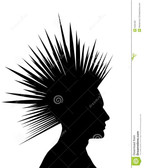 mohawk black punk silhouette stock photography image