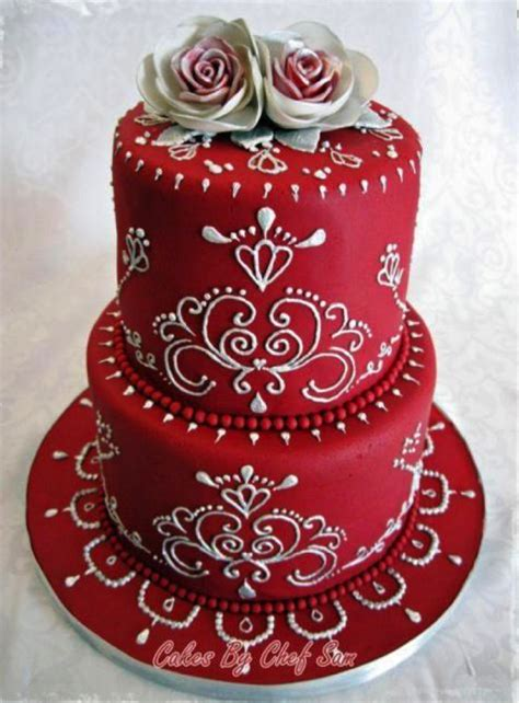 beautiful decorated cakes quot beautiful red decorated wedding cake quot quot cakes wedding in red of