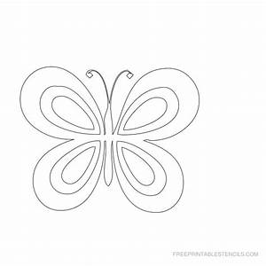 Free Butterfly Printable To Paint – Craftbnb