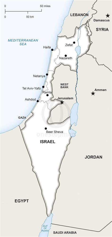vector map  israel political  stop map