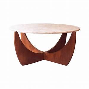 Table Basse Ronde Marbre : table basse scandinave ronde en marbre ann es 50 design market ~ Teatrodelosmanantiales.com Idées de Décoration