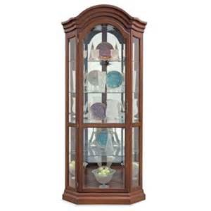 lighthouse serpentine hardwood corner curio display