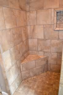 Tiled Walk In Showers by Master Bath Walk In Tile Shower Ak Britton Construction Llc