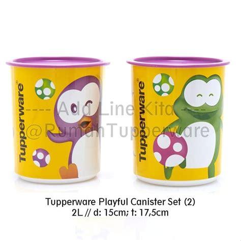 Poppy Canister Tupperware jual termurah ni silah kan tupperware playful canister set