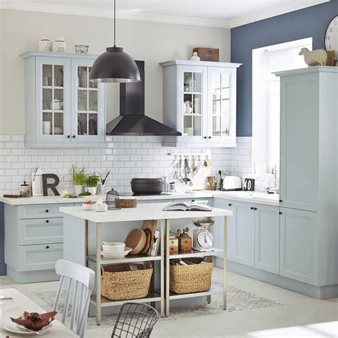 leroy merlin meuble de cuisine meuble de cuisine bleu delinia ashford leroy merlin