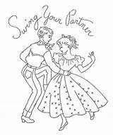 Dance Embroidery Coloring Pages Square Flickr Swing Country Quotes Patterns Dancing Ab Danse Colouring Applique Drawing Stitch Cross Quotesgram Template sketch template
