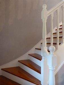 les 25 meilleures idees concernant escalier blanc sur With peindre rampe escalier bois 4 la renovation de lescalier la maison de lilly