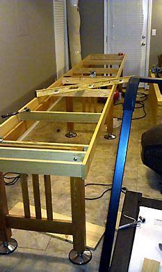 bryan edingers table shuffleboard build  refinishing