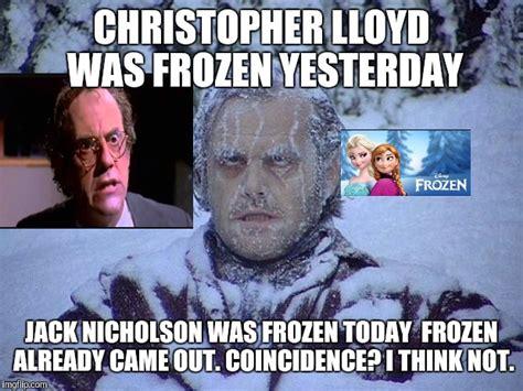 Jack Nicholson Meme - jack nicholson the shining snow meme imgflip