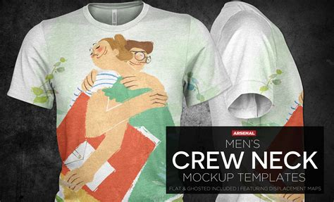 crew neck mock up template men s crew neck t shirt mockup templates pack by go media