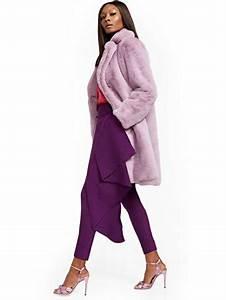 Hue Denim Size Chart Ny C Purple Faux Fur Jacket
