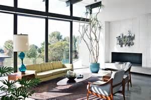 Mid Century Modern Concrete Fireplace