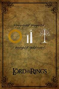 The Lord of the Rings Minimalist Trilogy Poster by KW1896 ...