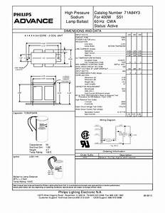Advance Ballast High Pressure Sodium Lamp Ballast