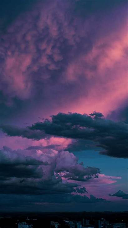 Clouds Dark Aesthetic Wallpapers Sky Backgrounds Pastel