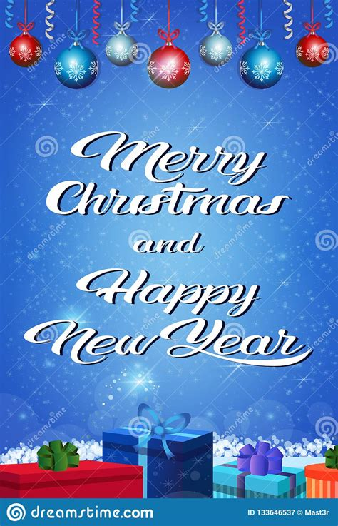 Get a new free font, free graphic and free craft each day. Happy New Year Merry Christmas Concept Gift Box Holiday ...