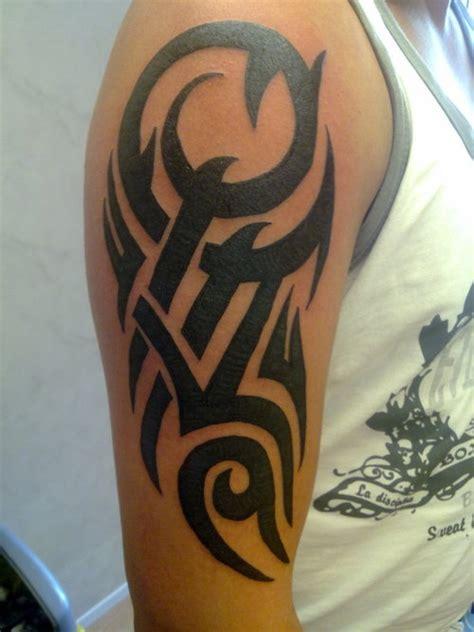 arm tattoos  men tribal armband skull