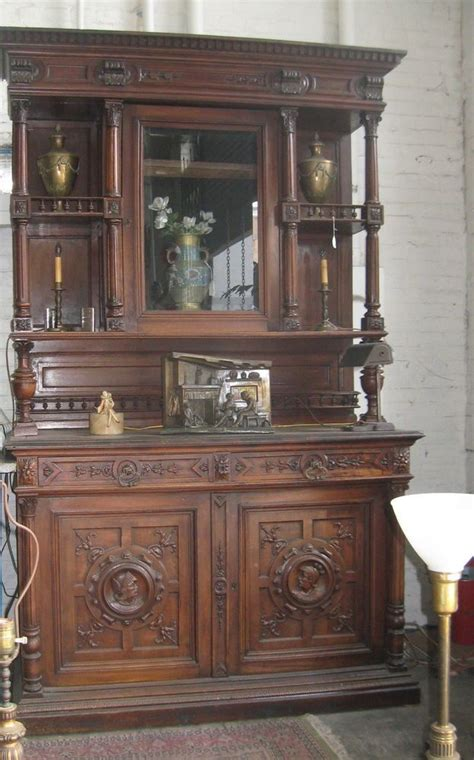 antique china cabinets 1800 s antique 1800 39 s breakfront belgium hand carved walnut 8