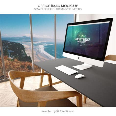 imac bureau bureau imac maquette télécharger psd gratuitement