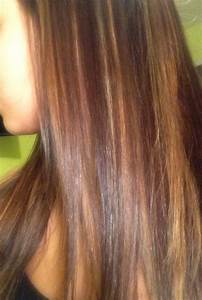 Red and blonde with caramel highlights on dark hair | Hair ...