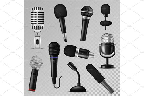 Microphone Vector Sound Music Audio Voice Mic Recorder