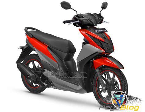 Modif Motor Mio Lama Merah by Modifikasi Honda Beat Fi Hitam Merah Automotivegarage Org