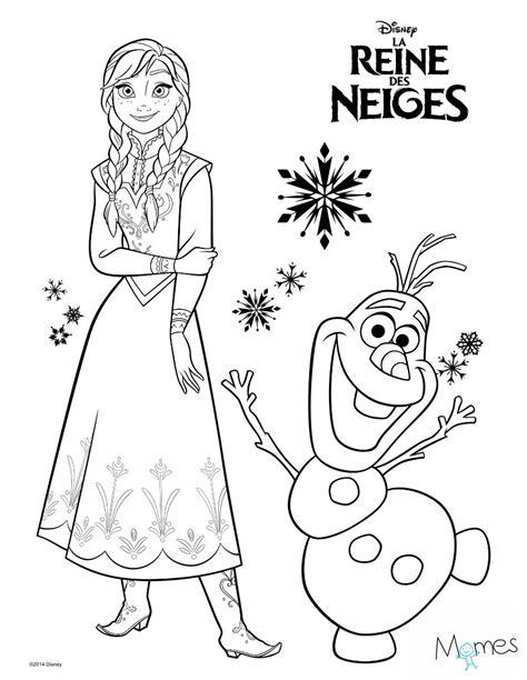 jeu de cuisine pour filles gratuit coloriage reine des neiges et olaf momes