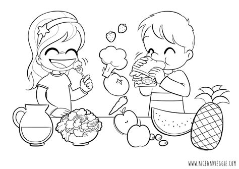 nutrition month coloring pages coloring page