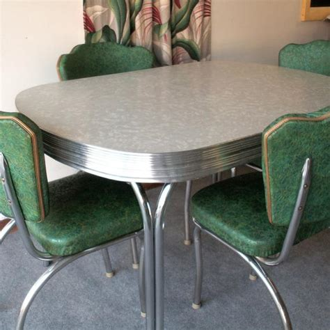 Items similar to Vintage Gray Formica and Chrome Table
