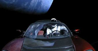 Download Tesla Car Launched Into Space Images