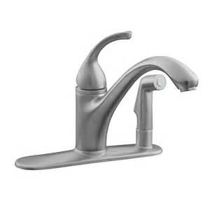 Kohler Faucet Kitchen Shop Kohler Forte Brushed Chrome 1 Handle Low Arc Kitchen Faucet At Lowes