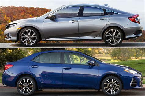 Toyota Vs Honda by 2019 Honda Civic Vs 2019 Toyota Corolla Which Is Better