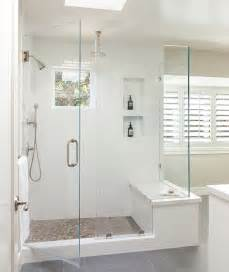 bathroom bench ideas shower window seat transitional bathroom