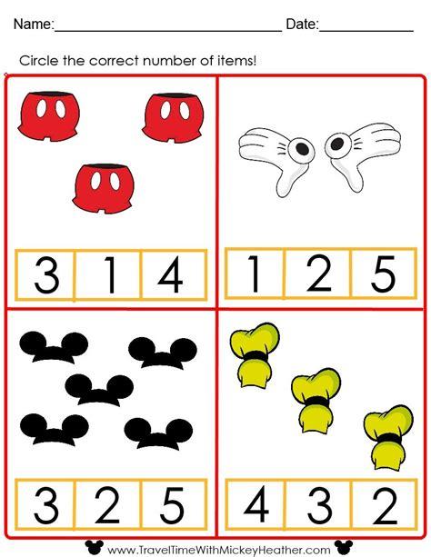 disney counting worksheet educational disney disney 483 | 2946a1aacb3e88f3dabd225bb3ab00ed