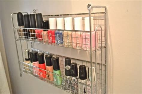 Spice Rack For Nail by 150 Dollar Store Organizing Ideas And Projects For The