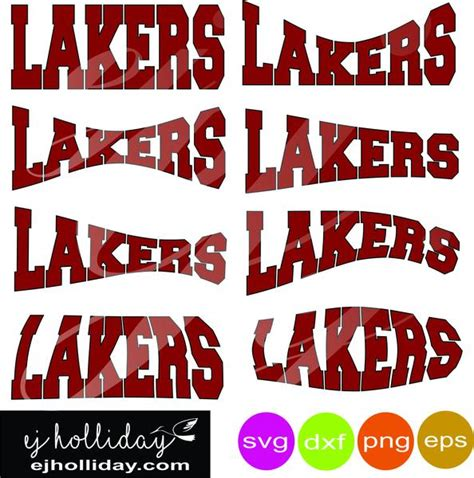 Lakers curved svg dxf eps png Vector Graphic Design ...