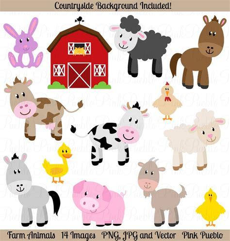 farm animals vectors  clipart illustrations