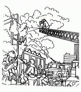 Malvorlagen, Feuerwehr, Kostenlos