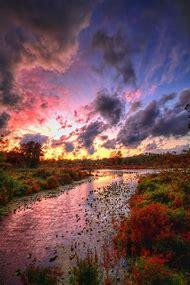 Beautiful Autumn Sunset Scenery