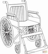 Coloring Wheelchair Pages Skip sketch template