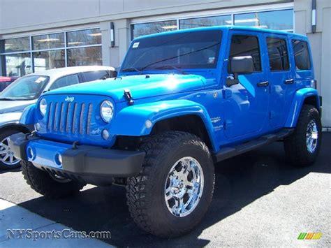 jeep sahara blue 2011 jeep wrangler unlimited sahara 4x4 in cosmos blue