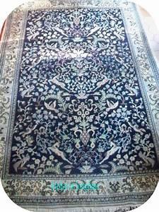 peinture tapis dorient bleu motif diran le blog With tapis d iran
