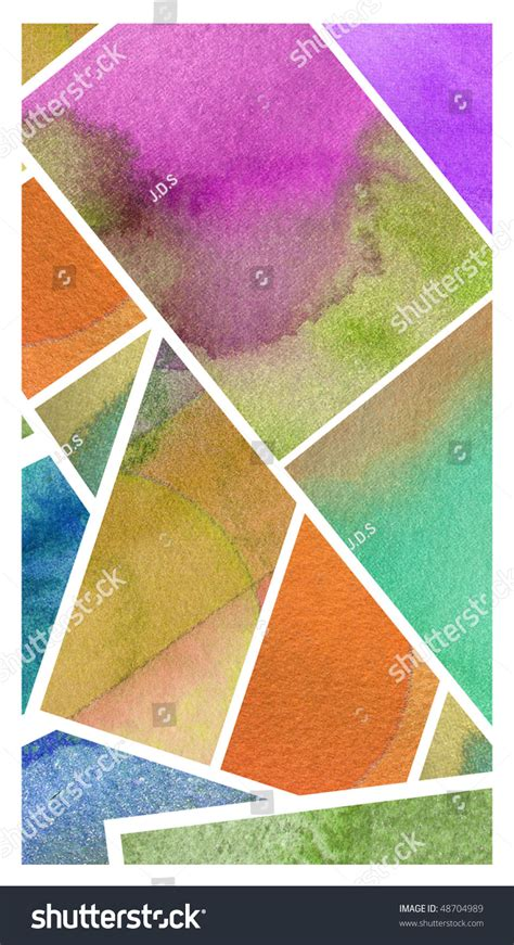 Abstract Shapes Watercolor by Abstract Watercolor Background Design Shapes Stock Photo
