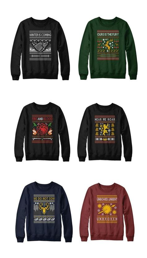 of thrones sweater of and of thrones on