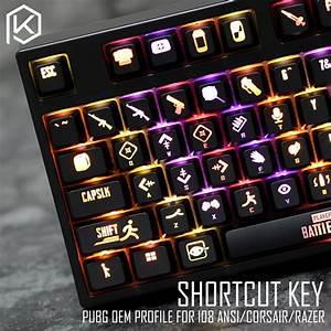 Oem Profile Abs Backlit 87 104 108 Ansi Set Keycap Pubg