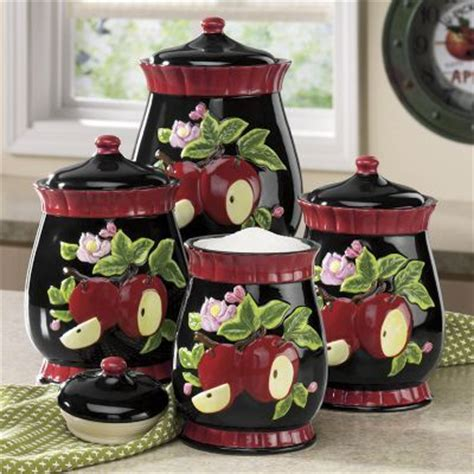 apple canisters for the kitchen 512 best kitchen canisters images on canister