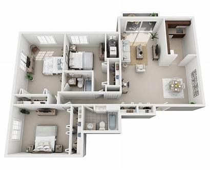 Bedroom Apartments Floor Plans Park Lake Layout
