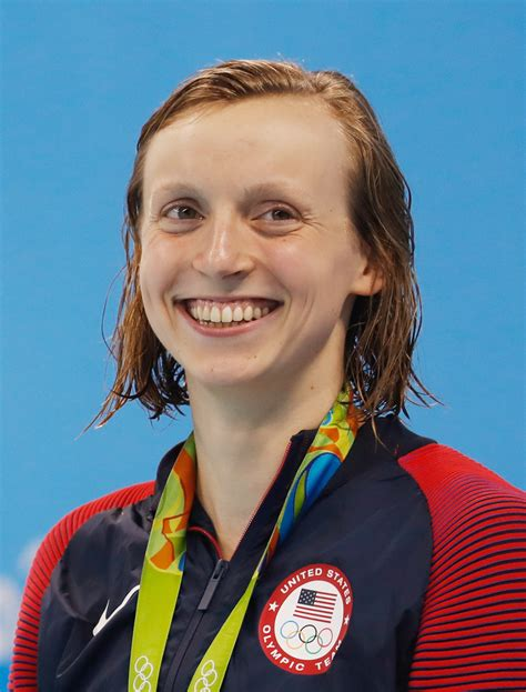 She has won five olympic gold medals and 15 world championship. File:Katie Ledecky Olympics 2016b.jpg - Wikimedia Commons